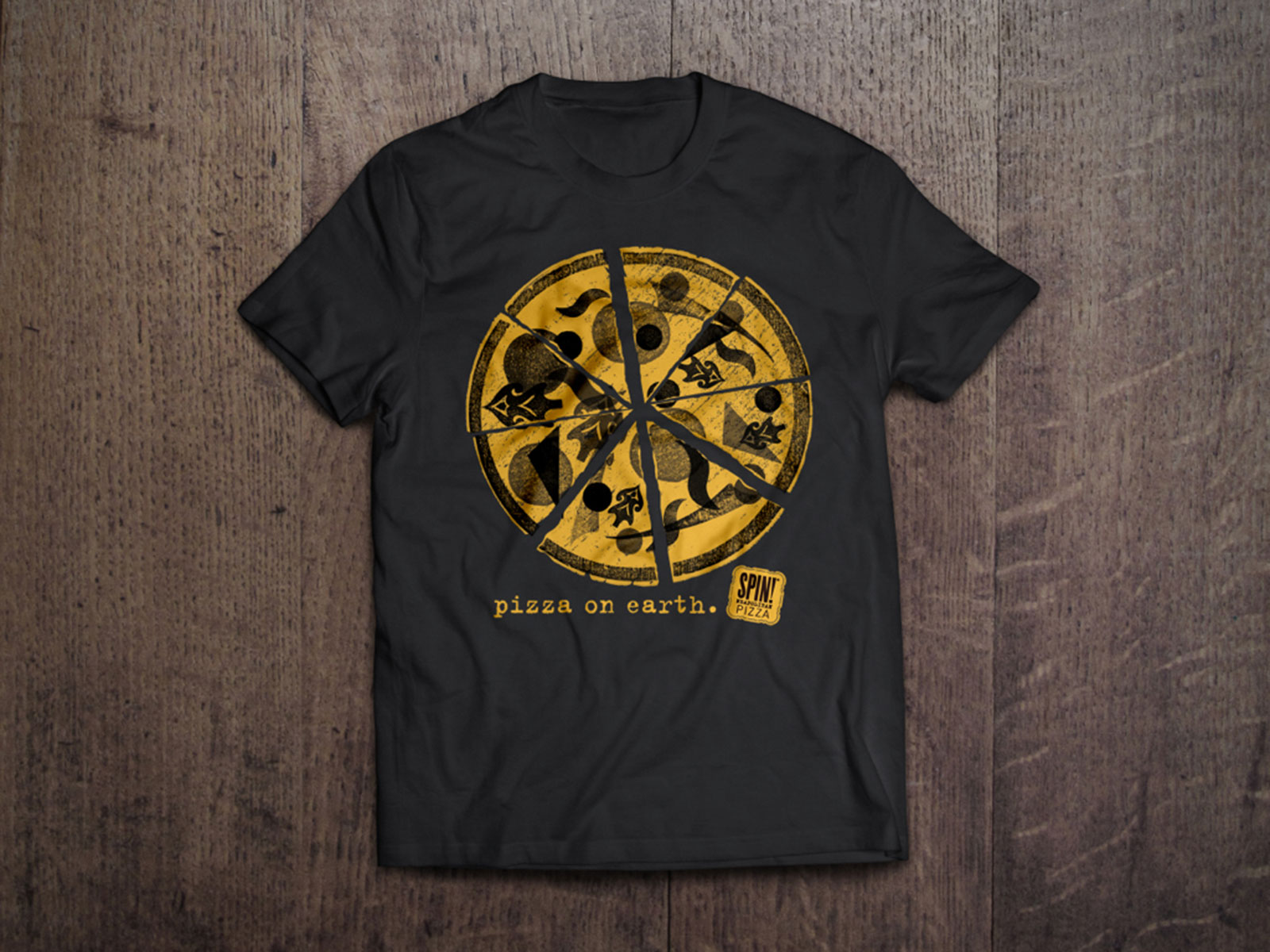 SPIN Pizza Tshirt