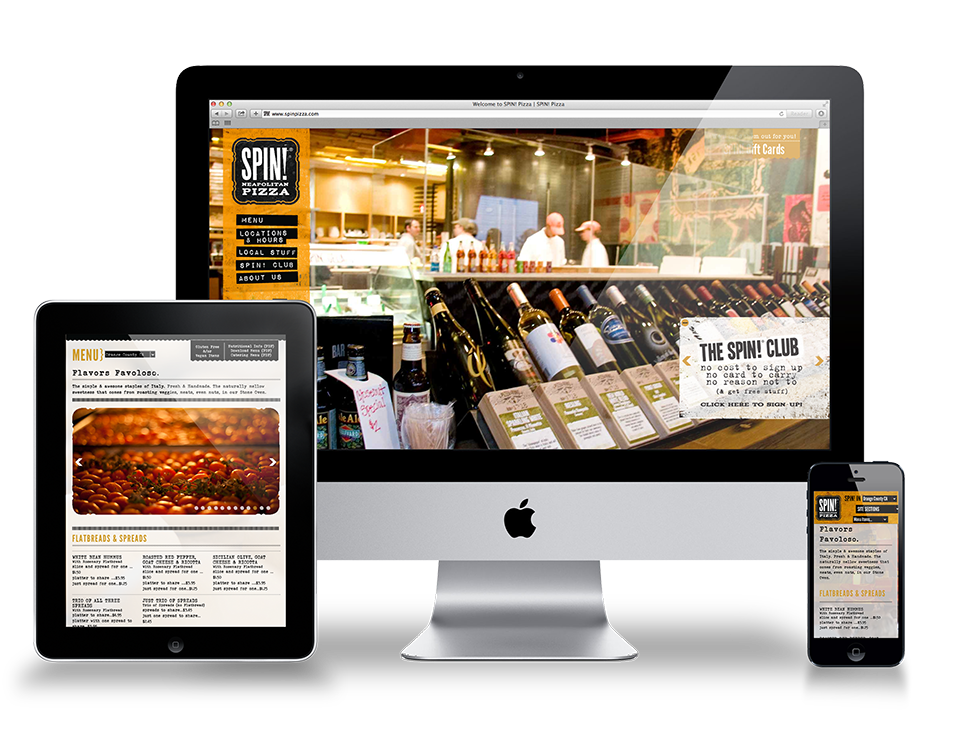 SPIN Pizza Website - Responsive