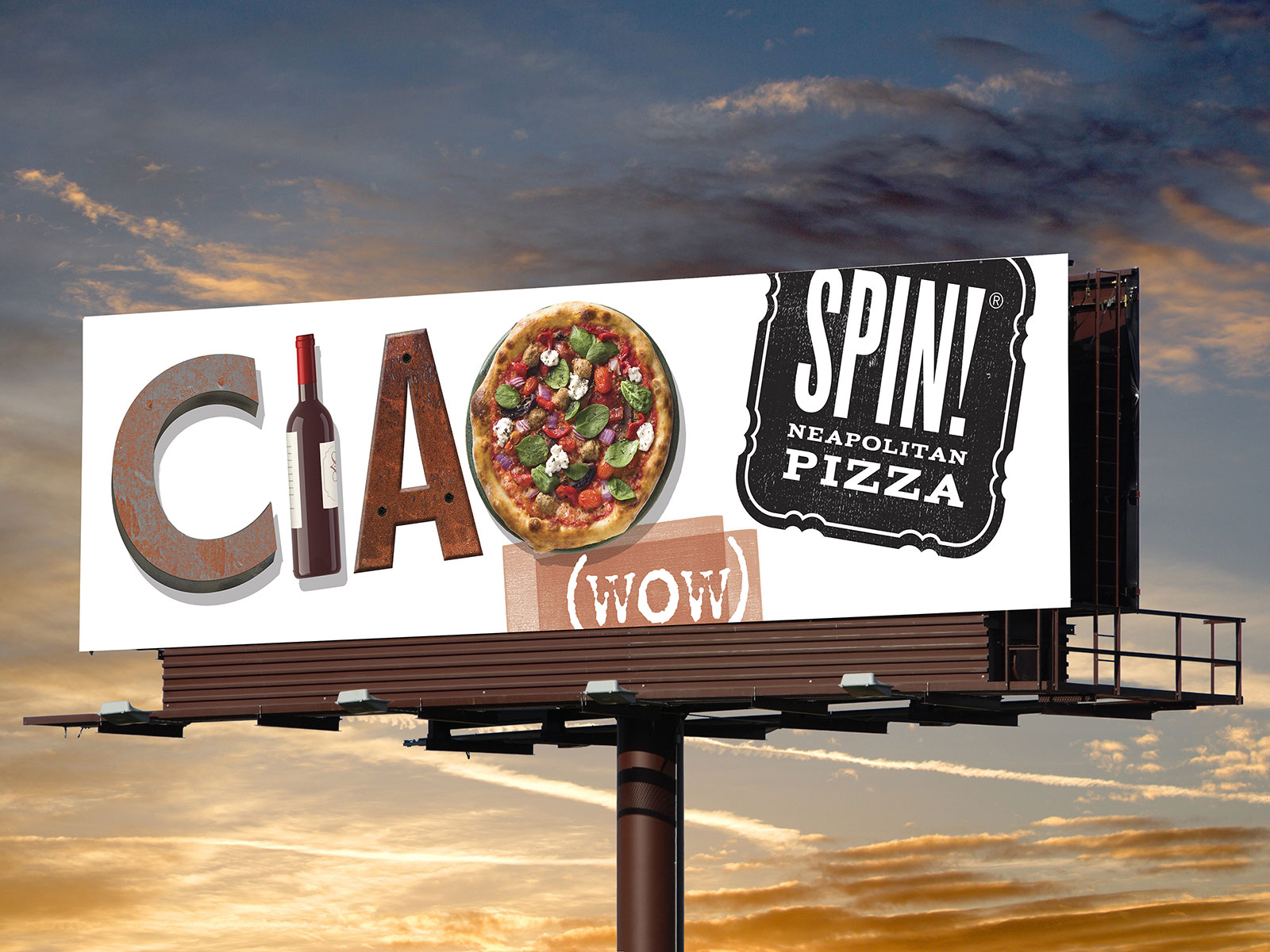 SPIN Pizza Billboard