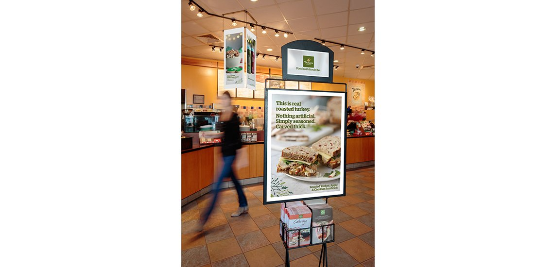 Panera Holiday Signage
