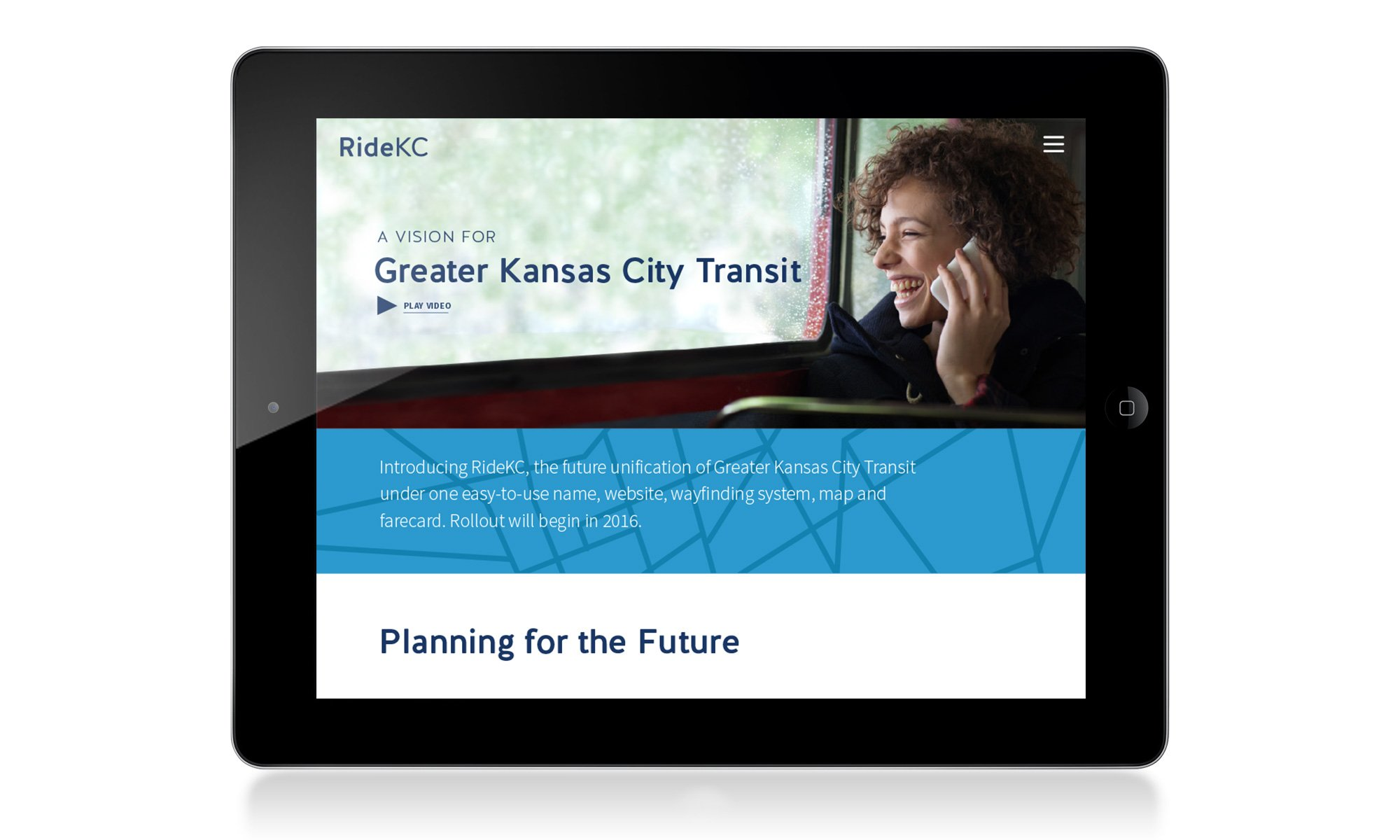 Ride KC Website - Tablet