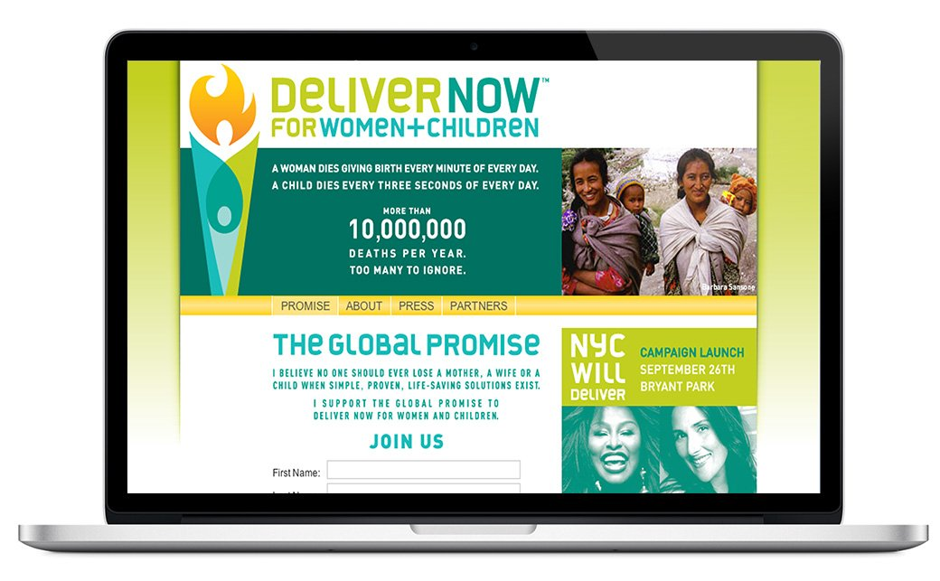 United Nations Deliver Now Website
