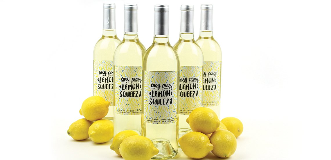 Easy Peasy Lemon Squeezy New Zealand Wine Bottles
