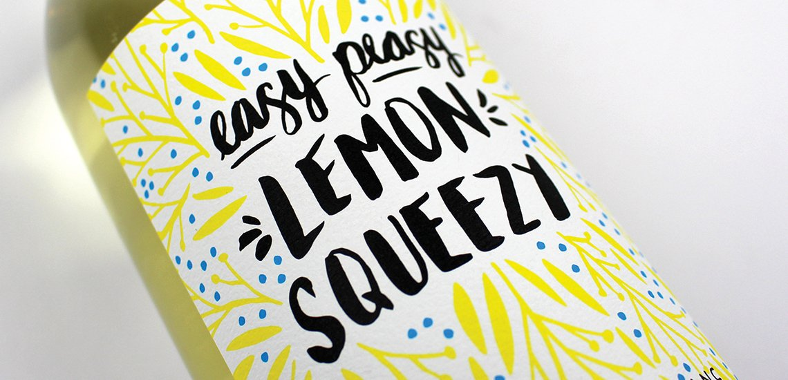 Easy Peasy Lemon Squeezy Wine Bottle