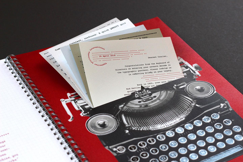 Neenah Paper Typewriter Detail