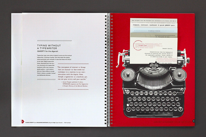 Neenah Paper Typewriter Spread