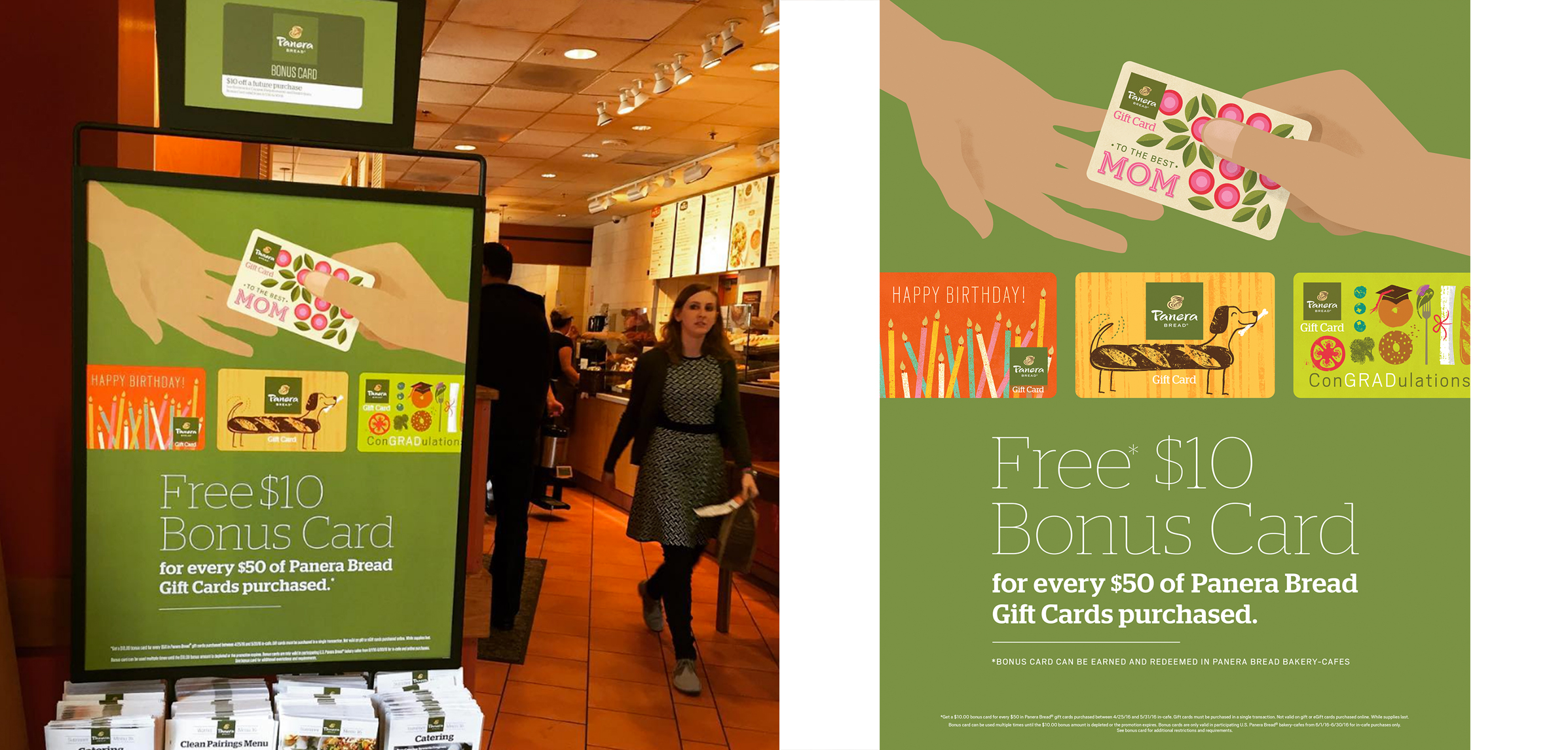 Panera Gift Cards, giving the gift of good taste | Willoughby Design
