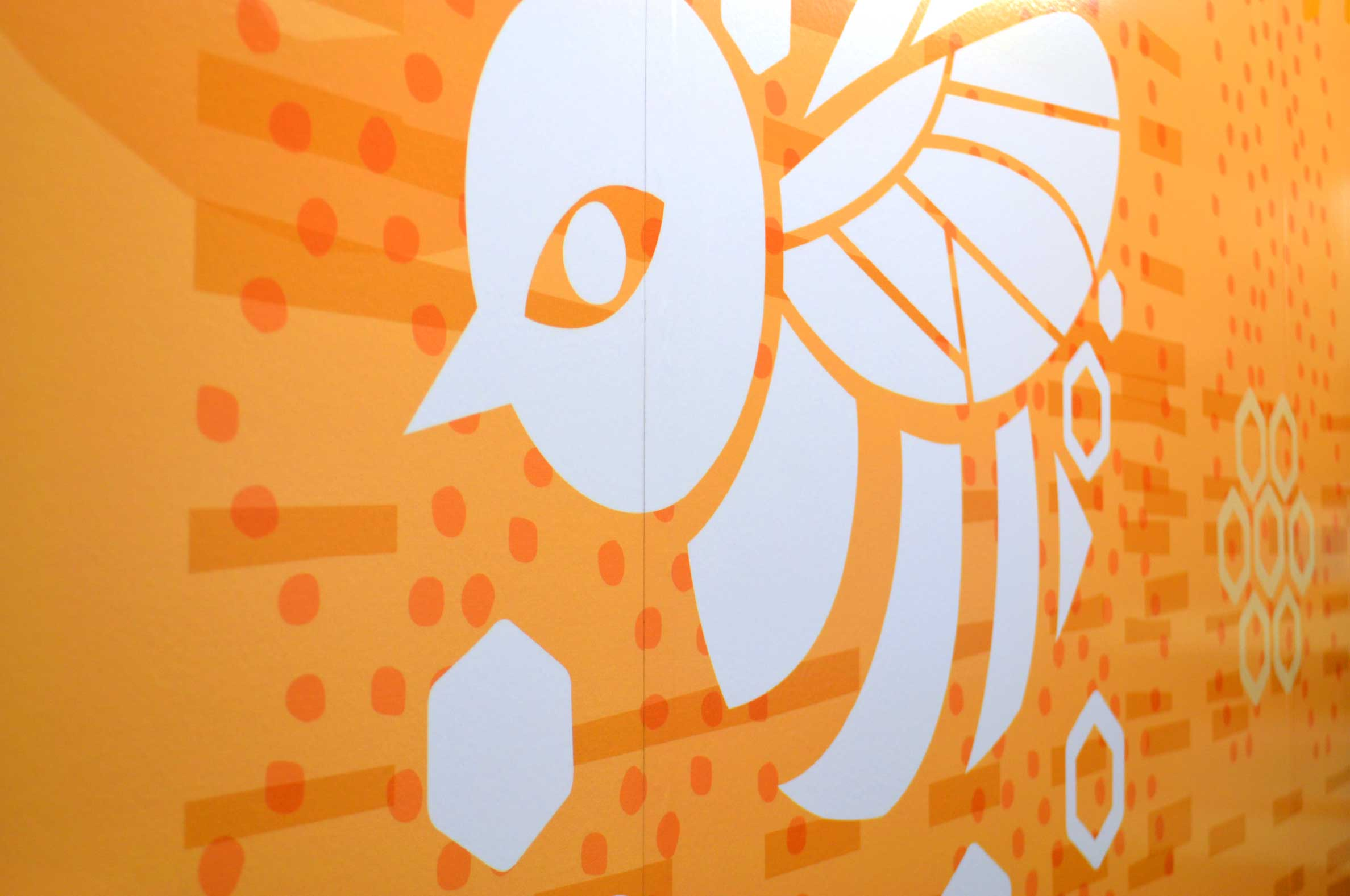 Sam Rodgers Health Center Bee Mural