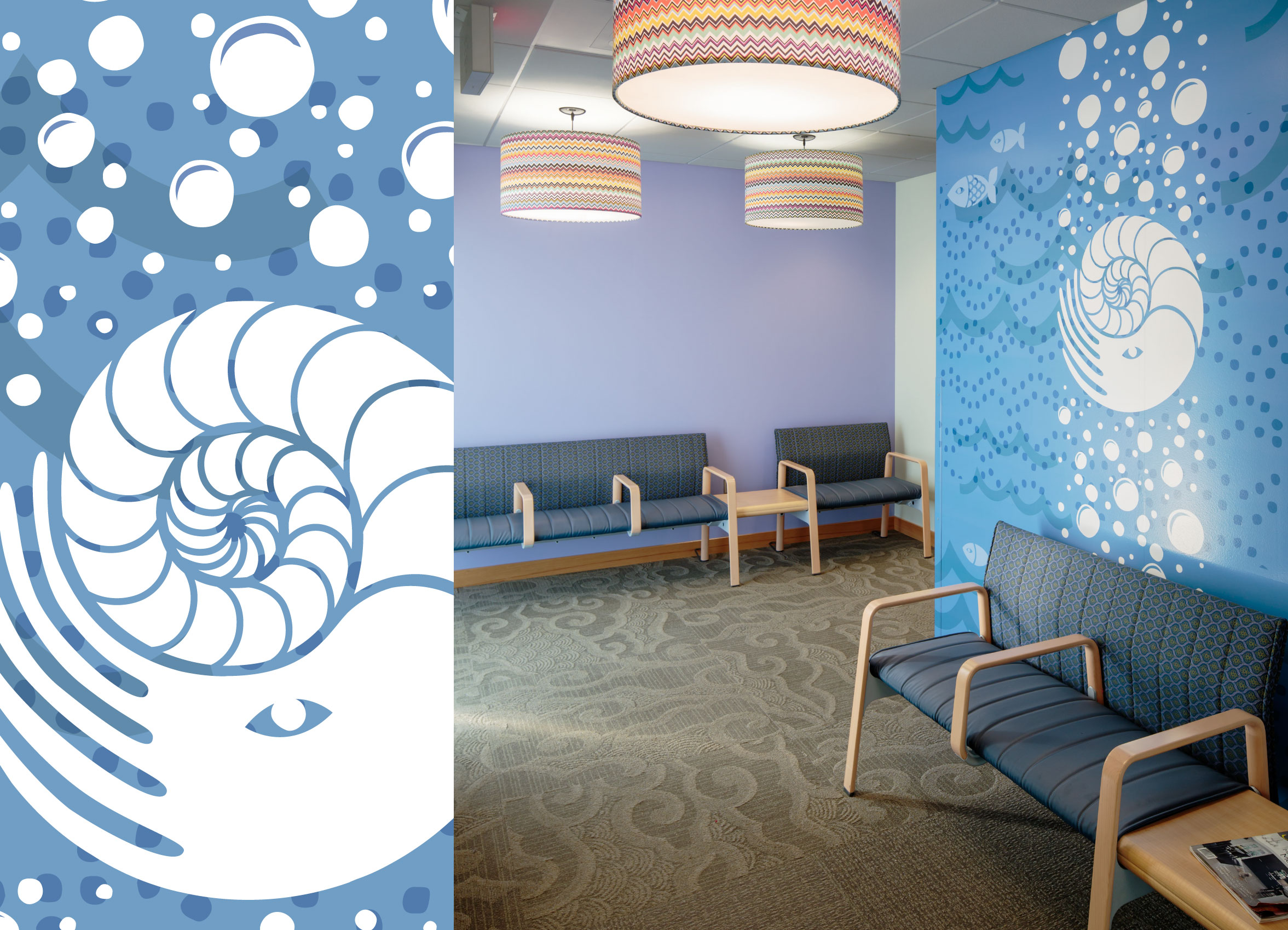 Sam Rodgers Health Center Squid Wall