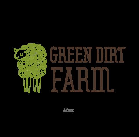 Green Dirt Farm Logo - After