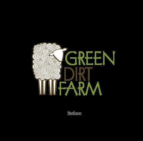 Green Dirt Farm Logo - Before