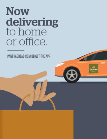 Branding - Panera Now Delivers POP