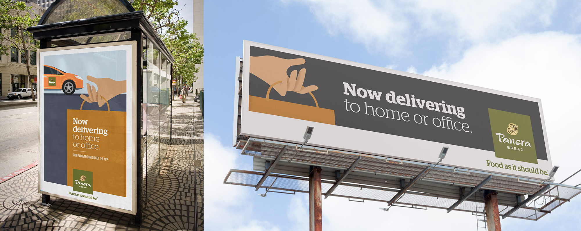 Branding - Panera Delivery Service Billboard