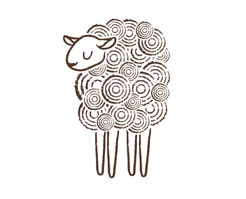 Green Dirt Farm sheep Logo