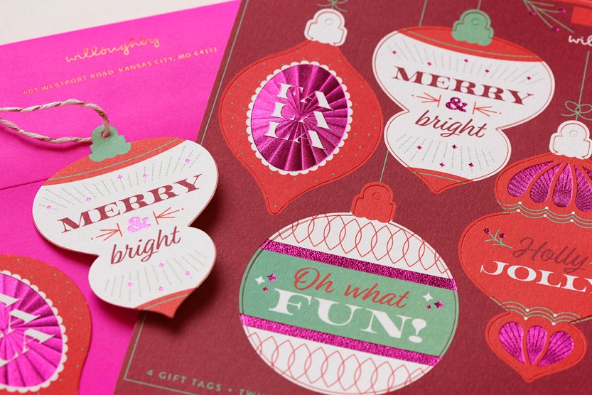 Willoughby Design 2017 Holiday Card - Closeup