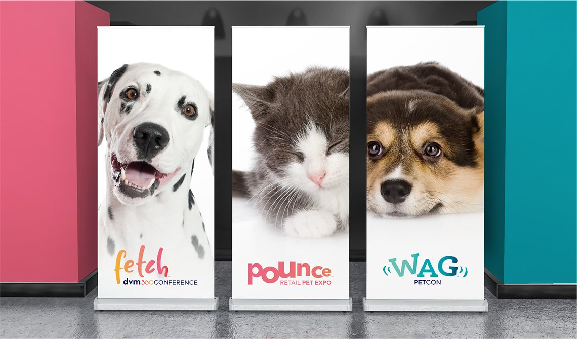 Vet + Pet Signage - Veterinary Conference Branding