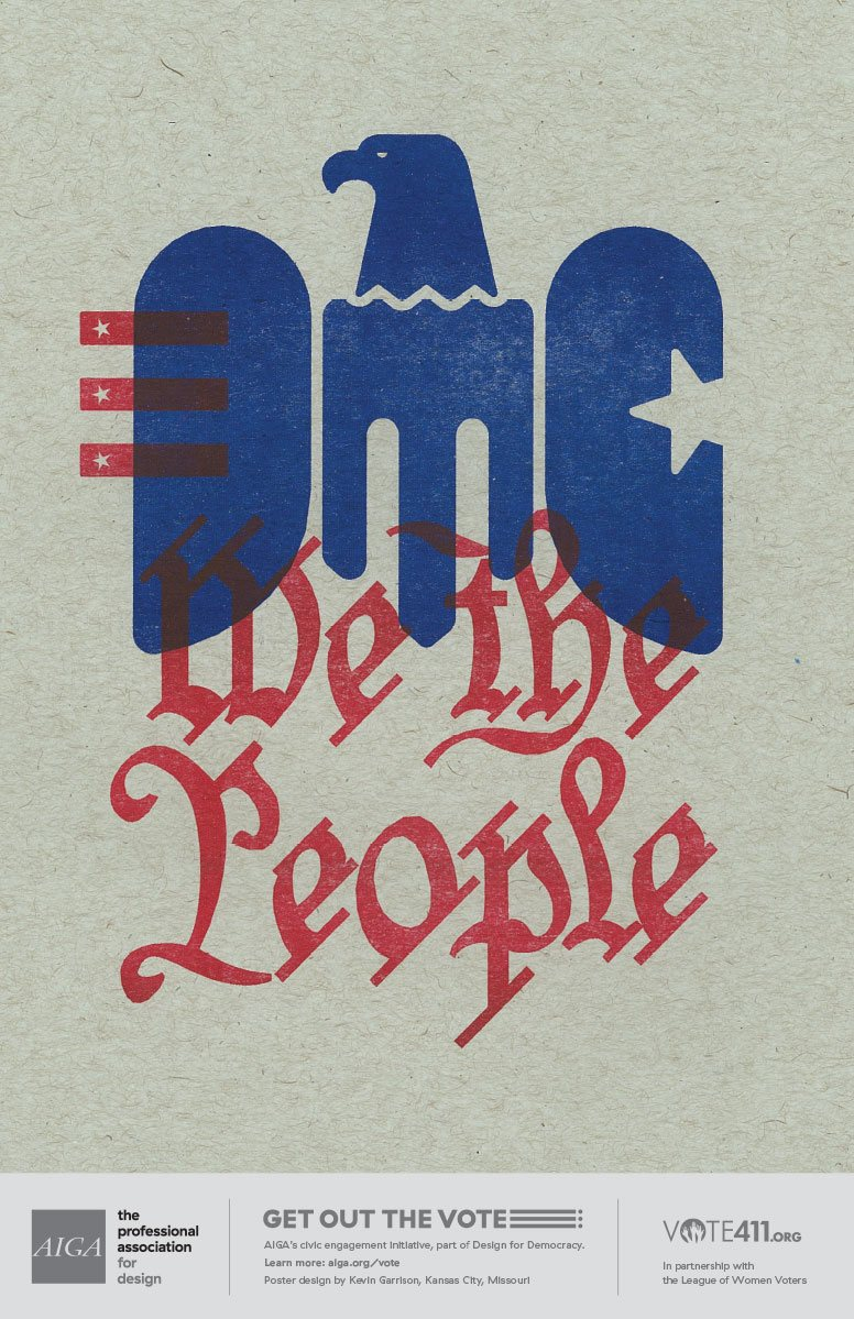 AIGA Get Out The Vote Poster