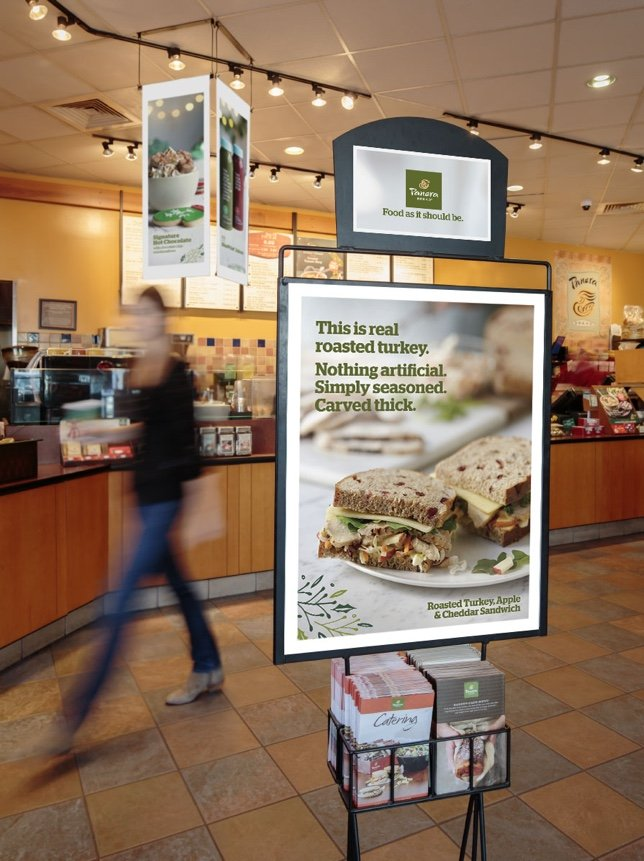 Panera Holiday 2015 Campaign - Greeting Stand