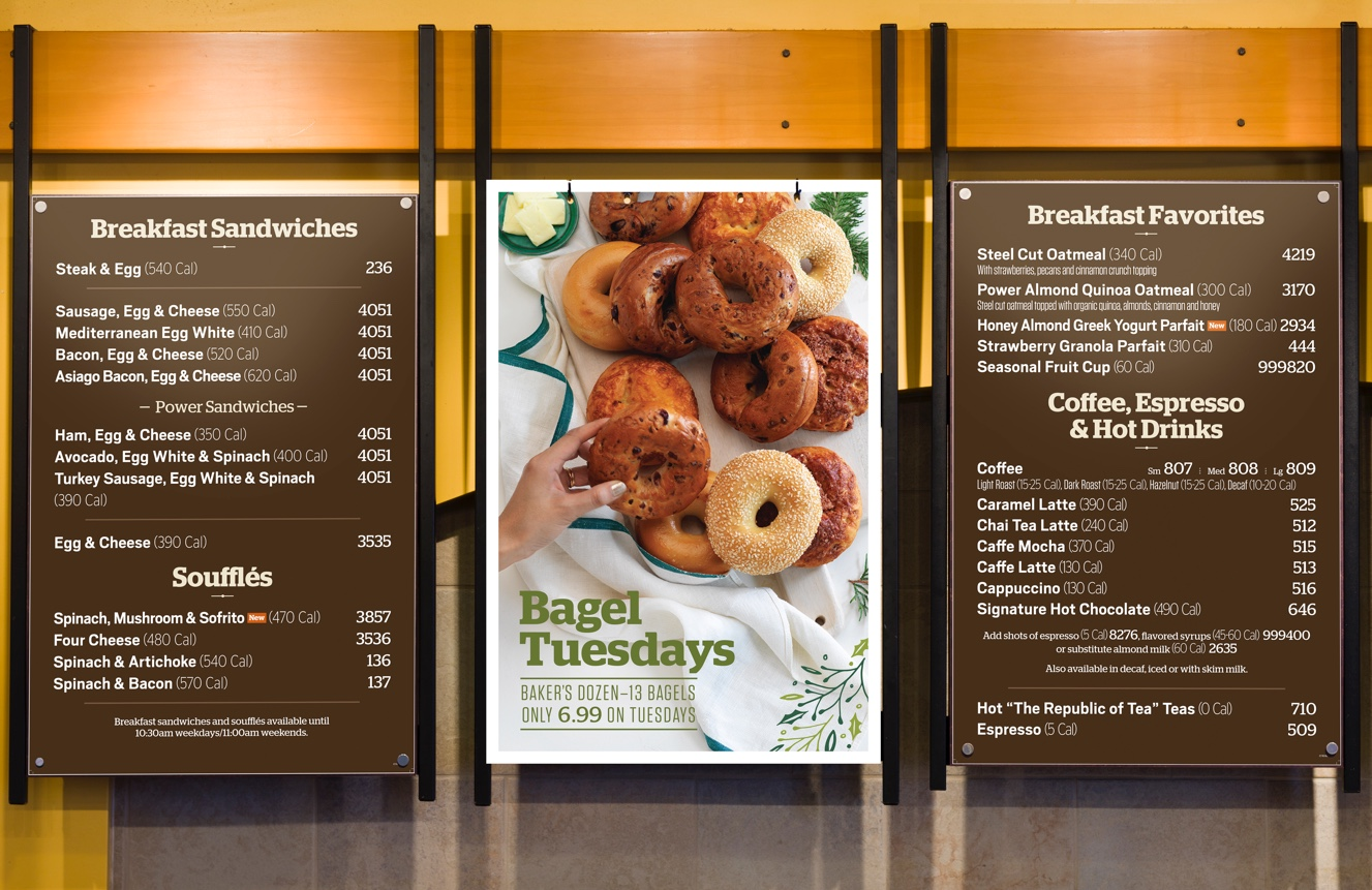 Panera Holiday 2015 Campaign - Menu Board