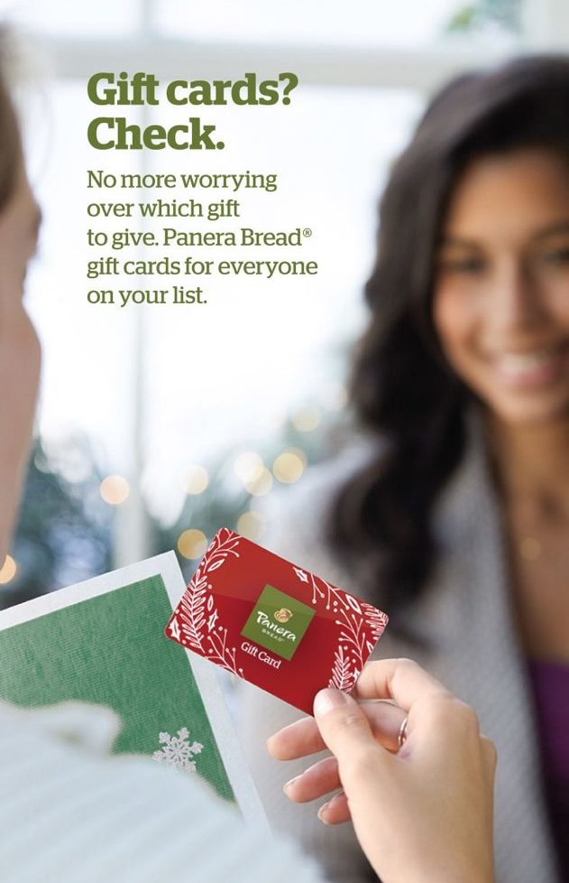 Panera Holiday 2015 Campaign - Gift Cards