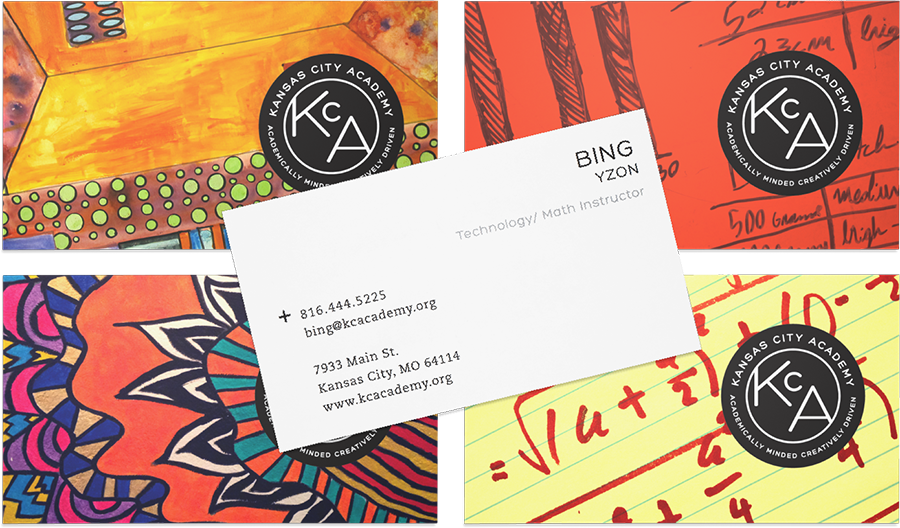 KCA Business Card - Education Branding