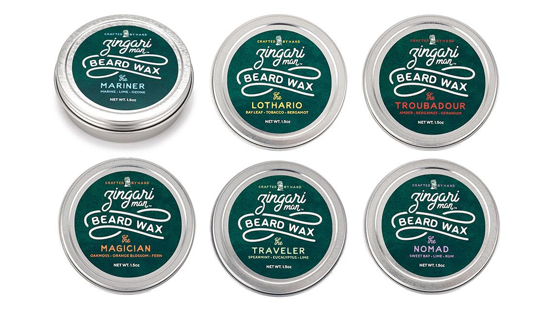 Zingari Man Beard Wax - Skincare Brand Identity