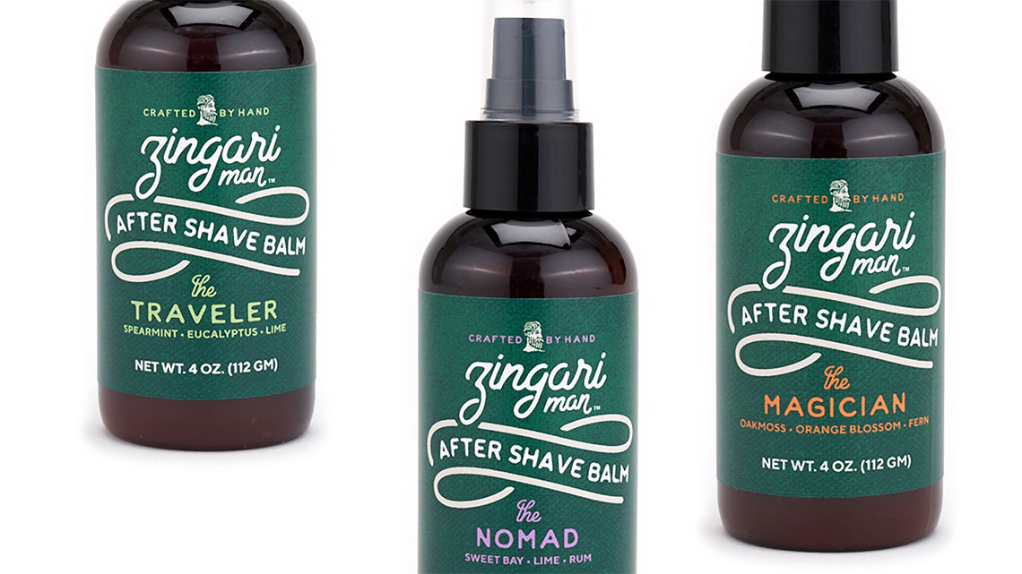 Zingari Man After Shave Balm - Skincare Brand Identity