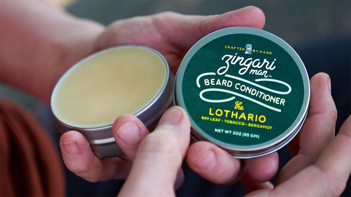 Zingari Man Beard Conditioner - Skincare Brand Identity