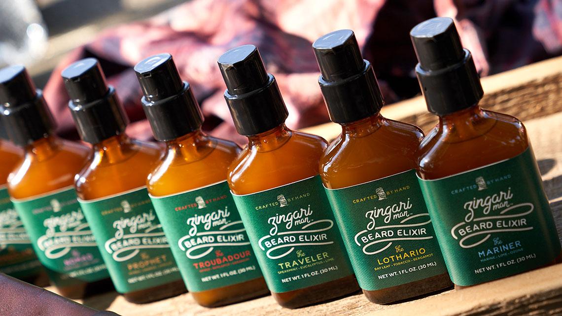 Zingari Man Beard Elixir - Skincare Brand Identity