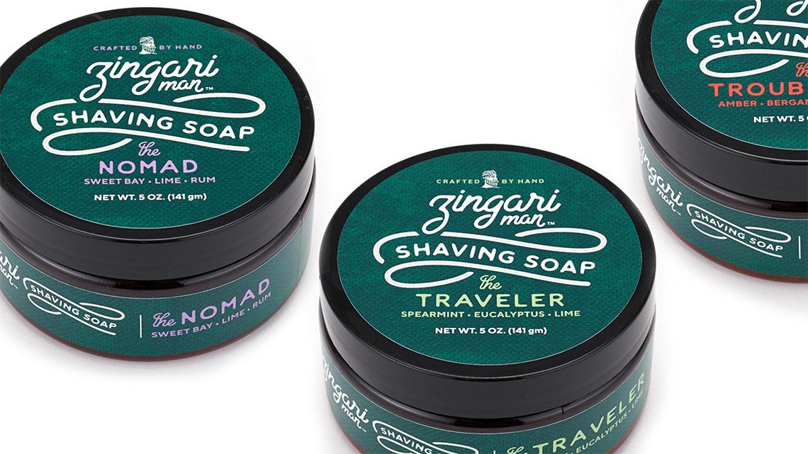 Zingari Man Shaving Soap - Skincare Brand Identity