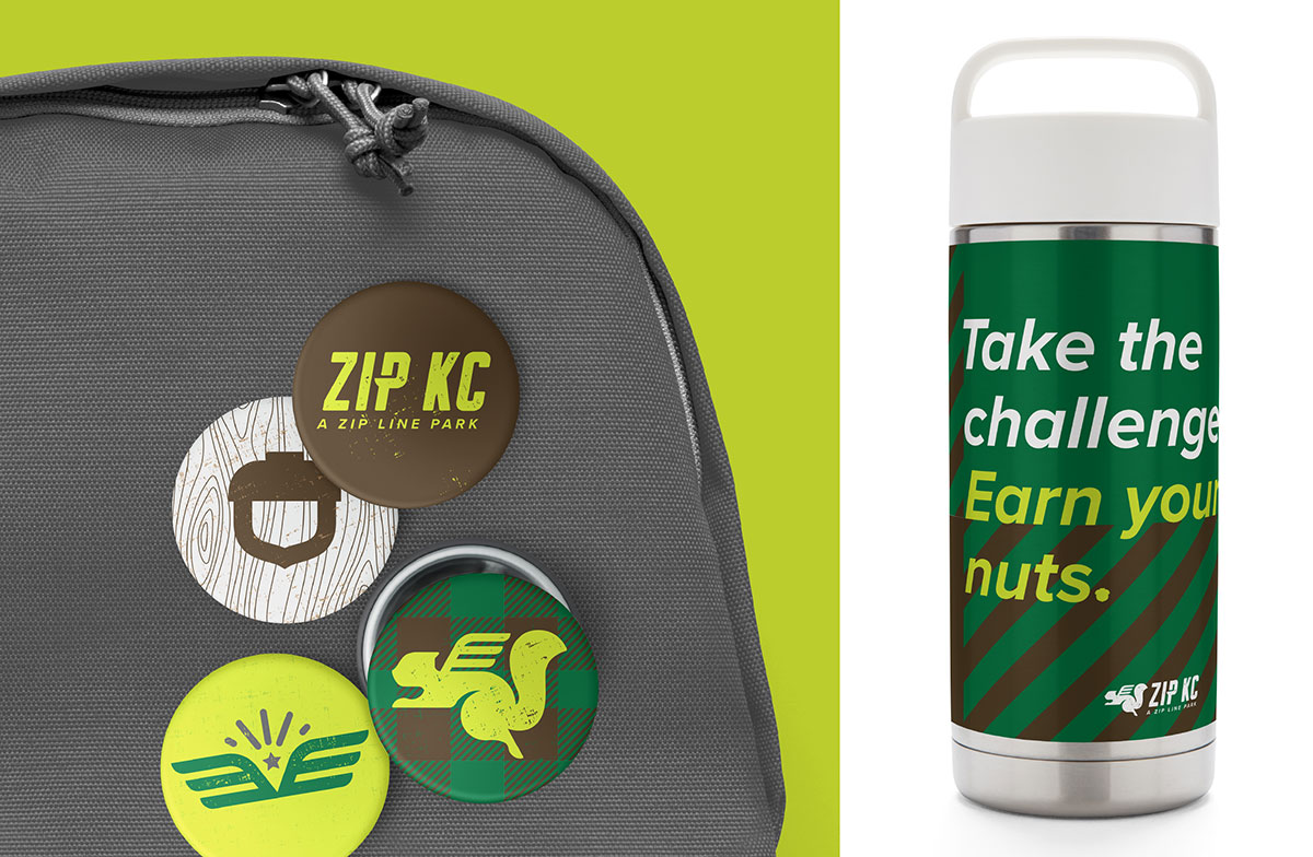 ZIP KC - Button/Thermos - Recreation Brand Identity