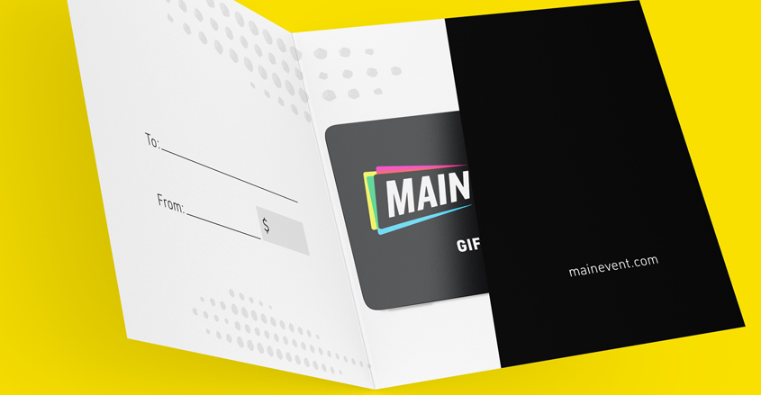 Main Event - Everyday Envelope - Entertainment Brand Identity