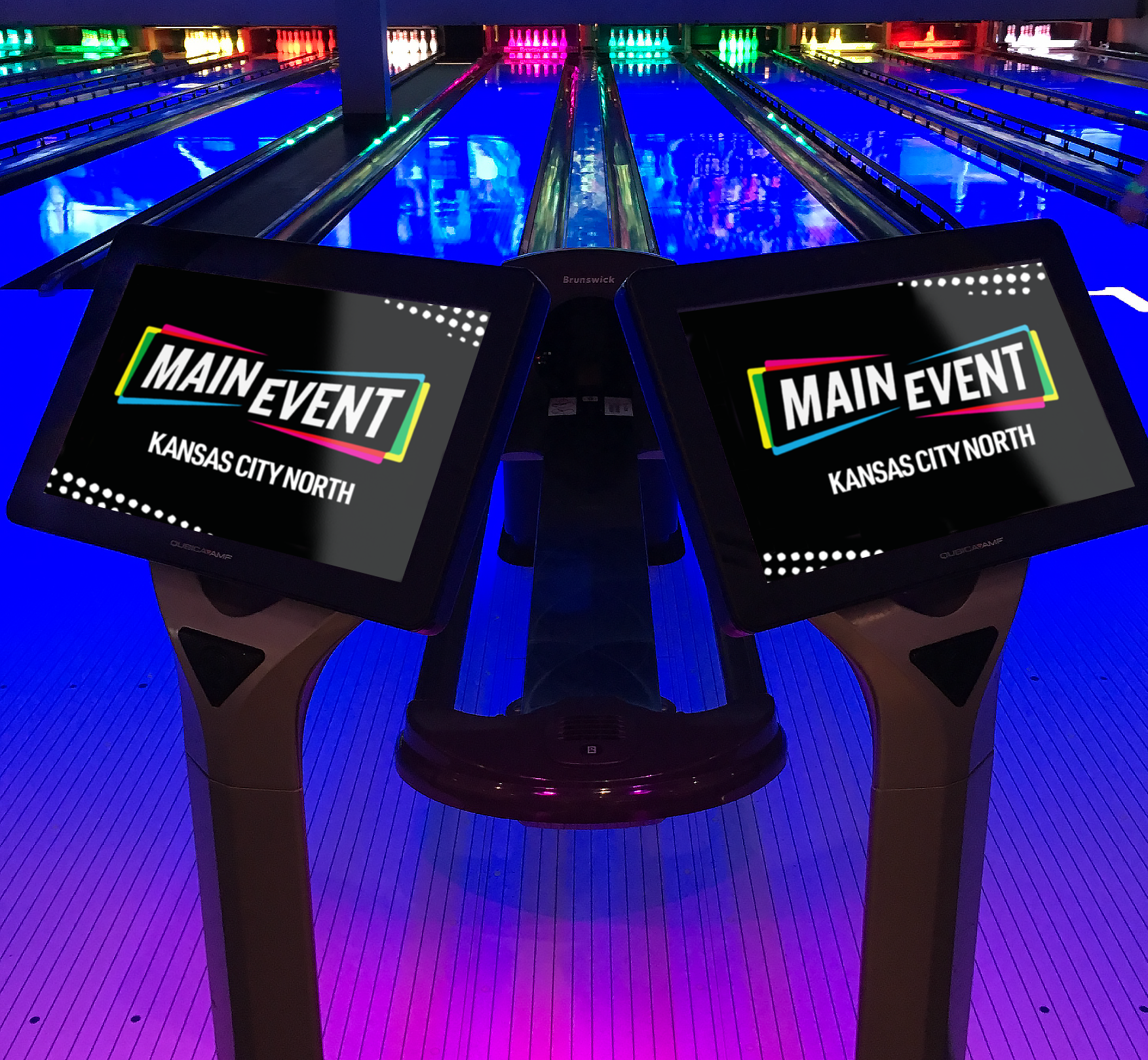Main Event - Bowling Kiosks - Entertainment Brand Identity