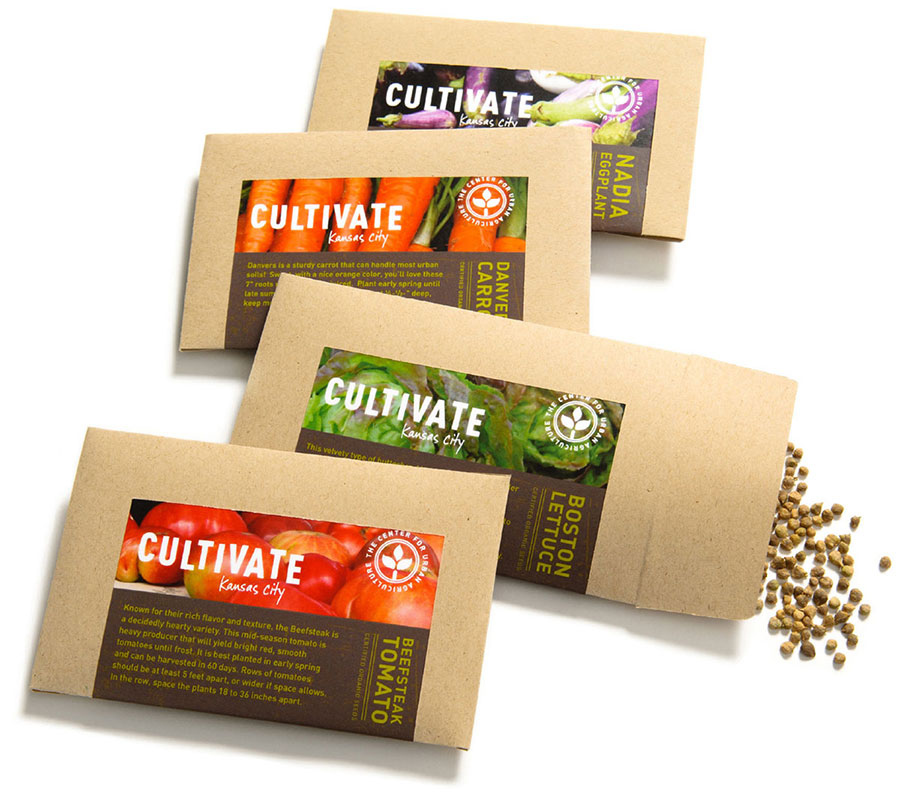 Cultivate KC - Seed Packets - Nonprofit Brand Identity