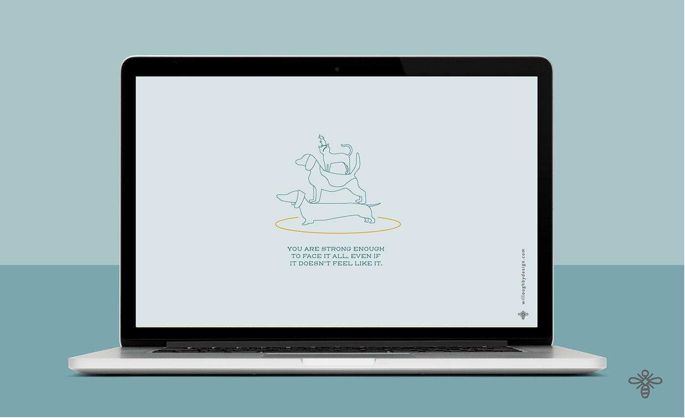 Dog Wallpaper - Willoughby Design - Brand Design KC
