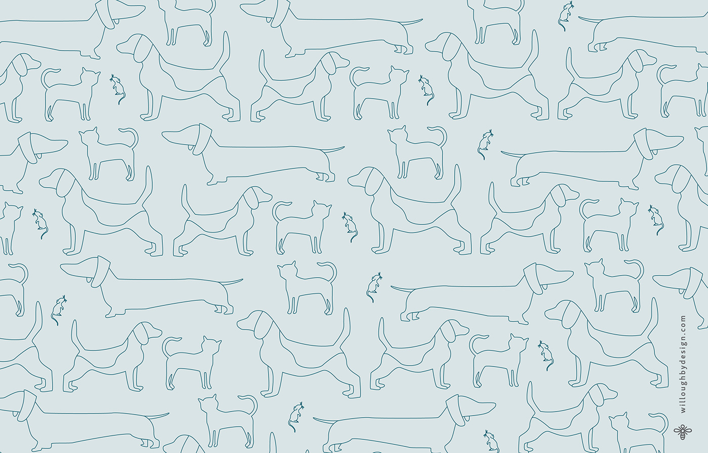Dog Wallpaper - Willoughby Design - Brand Design KC