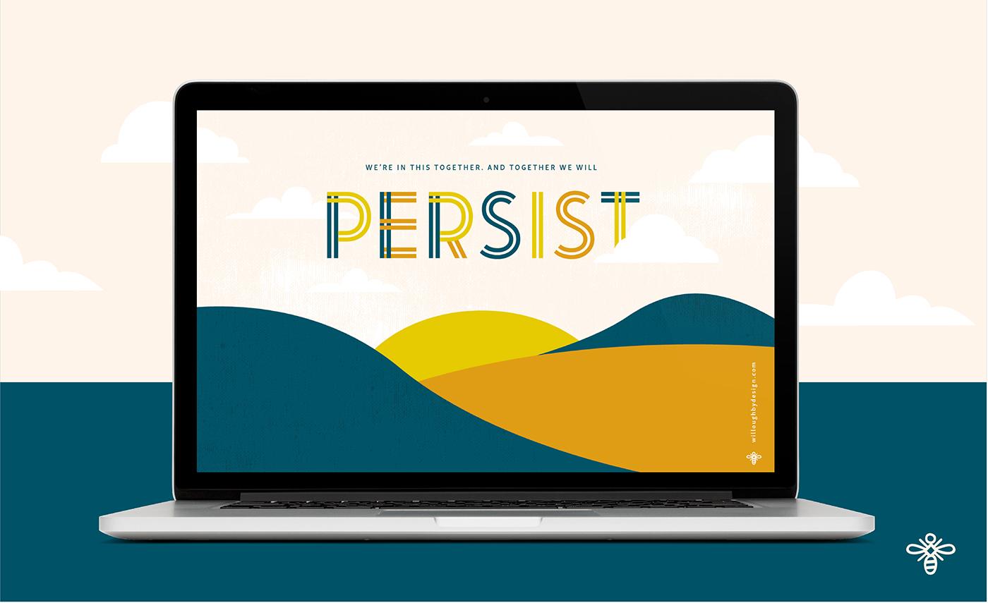 Persist Wallpaper - Willoughby Design - Brand Design KC