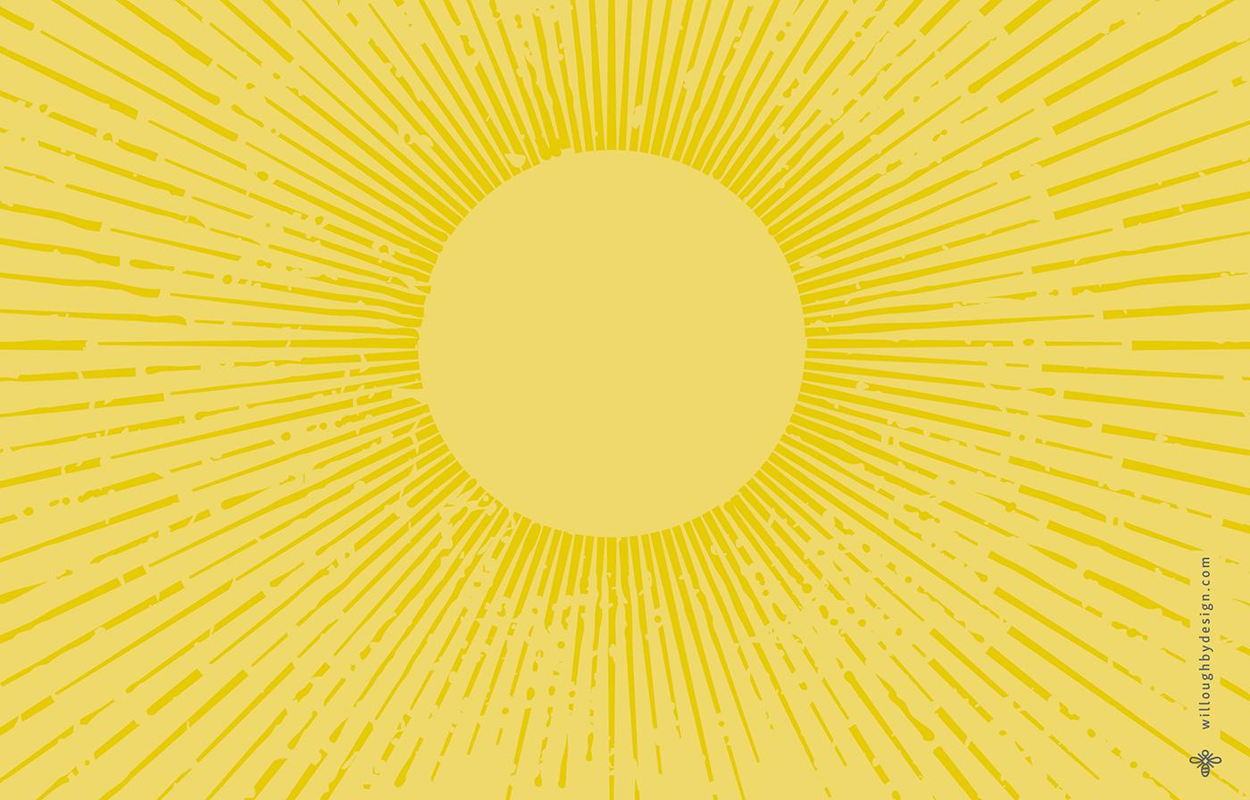 Sunbeam Wallpaper - Willoughby Design - Brand Design KC