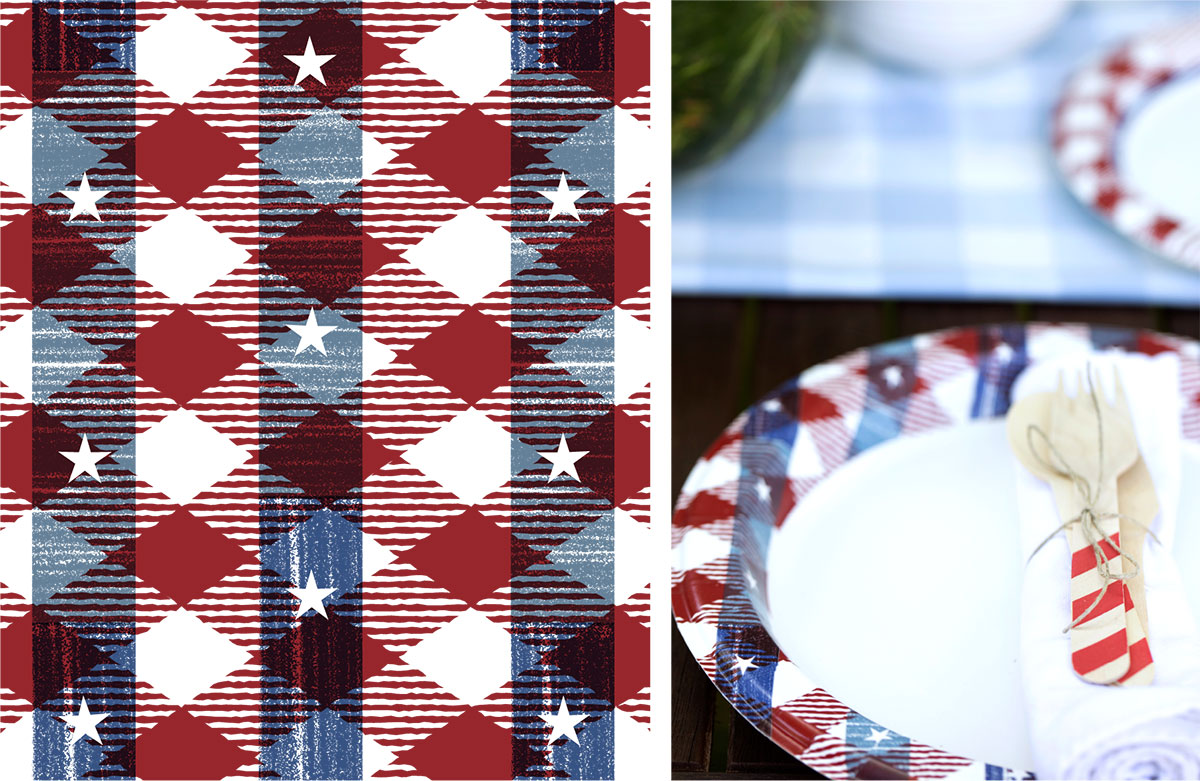 Dixie Ultra Patriotic - Surface Design
