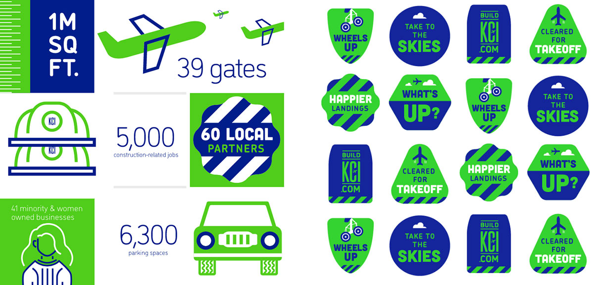 Build KCI - Aviation Brand Identity - Badges