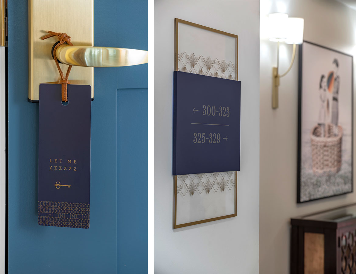 The Inn at Meadowbrook Room Signage - Hospitality Brand Identity