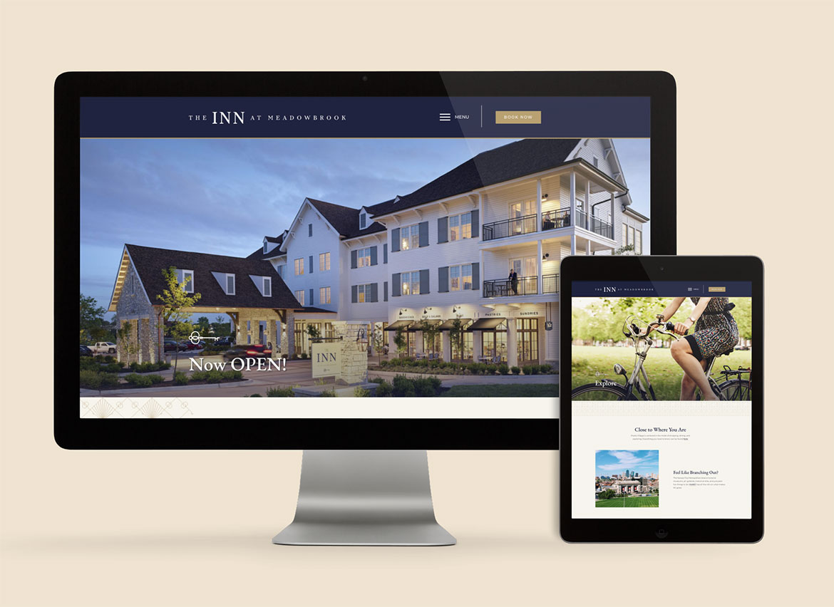 The Inn at Meadowbrook Website - Hospitality Brand Identity