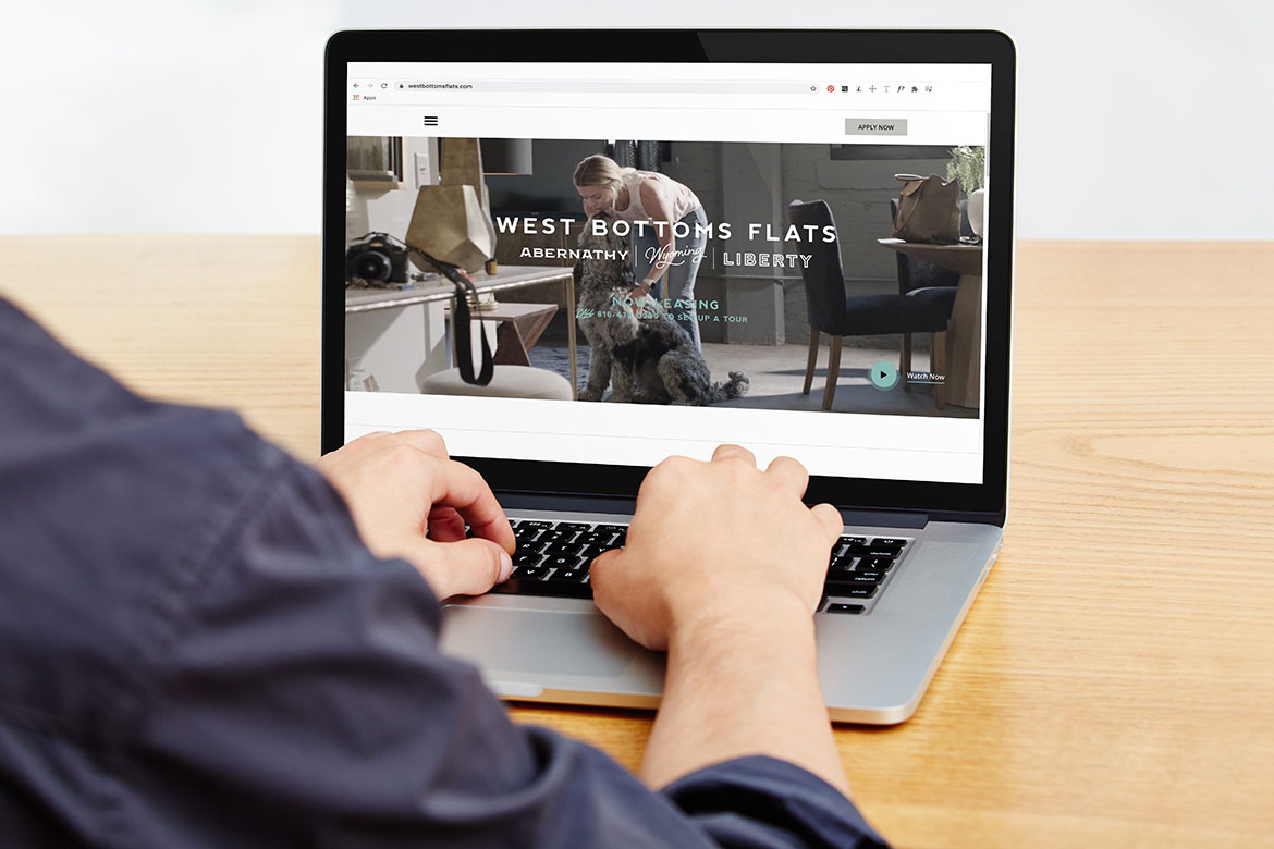 West Bottoms Flats Website - Development Brand Identity