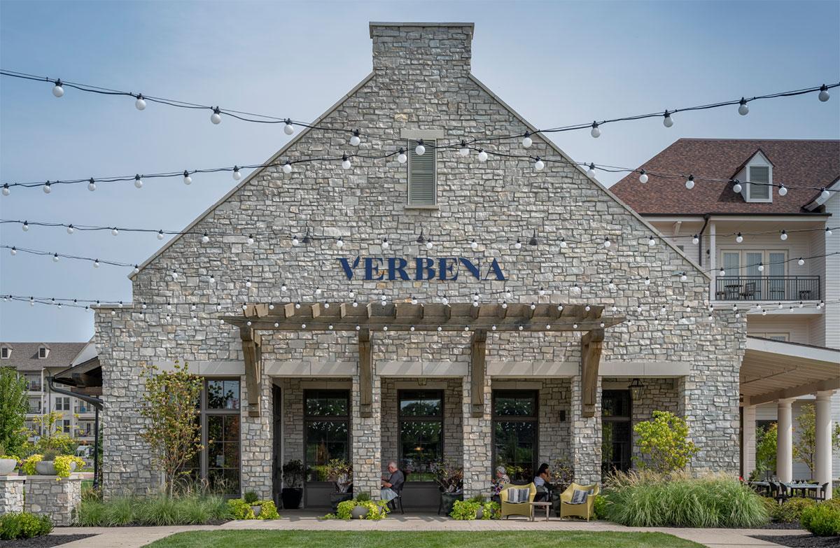 Verbena Exterior - Restaurant Brand Identity